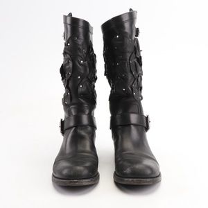Valentino Studded Motorcycle Boots